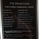 The Annex Menu - The Sandwiches