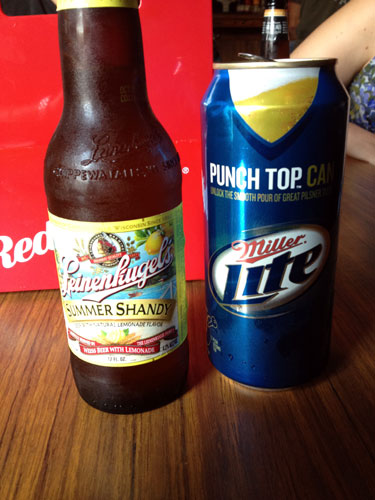 Summer Shandy & Miller Lite